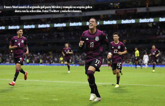 La selección mexicana golea 3-0 a Honduras y se coloca como líder del octagonal